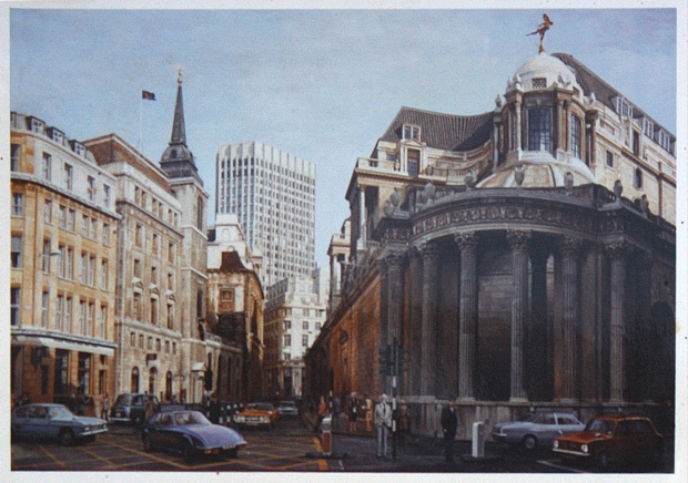 Bank of England And Royal Exchange by Brian Slack