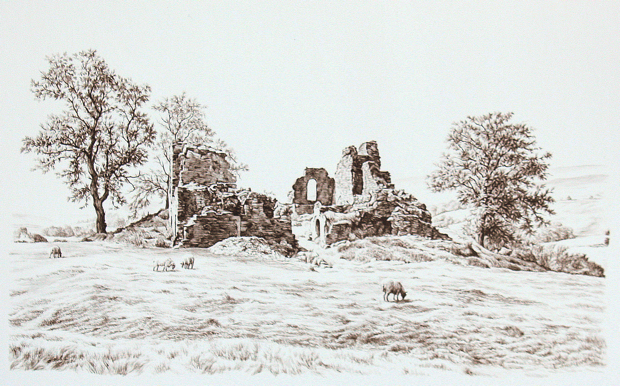 Pendragon Castle by Brian Slack